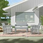 Outdoor Rattan Furniture Chair And Table Garden Swimming Pool Sofa