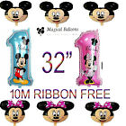 Disney+Mickey%2FMinnie+Mouse+number+1+Foil+Balloons+Kids+Birthday+Balloon+32%22