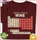 ComputerGear Funny Wine T Shirt Chemistry Periodic Table Geek Nerd Unisex Tee