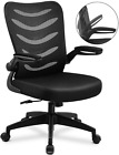ComHoma Desk Chair Ergonomic Office Chair Mesh Computer Chair with Flip Up Arms