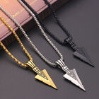 Fashion Arrow 925 Silver,gold Necklace Pendant For Men Cubic Zircon Jewlery