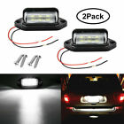 2x Led Universal License Number Plate Light Lamp For Car Truck Suv Trailer Lorry