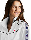 Champion Life Women's Track Jacket Tricot Script Logo Patch Taping Sleeves New