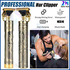 Professional Hair Clippers Electric Cordless Trimmer Cutting Machine Set Barber