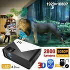 Android LED Smart Home Theater Projector 4K Wifi 35000 Lumens 1080p HD 3D Movie