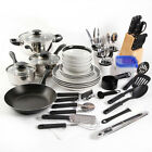Kitchen In A Box 83 Piece Combo Set Black or Red Home House Cooking Essentials photo