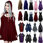 Women Vintage Gothic Punk Lolita Steampunk Swing Dress Rave Cos Party Dresses
