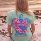 Country Life Outfitters Southern Attitude Snappy Sea Turtle Flower Mint Vintage