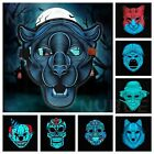 Halloween Mask Sound Reactive LED Light Up Activated Dance Rave EDM Plur Party
