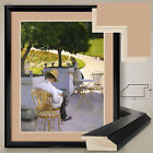 "32Wx38H"" THE ORANGE TREES by GUSTAVE CAILLEBOTTE - DOUBLE MATTE, GLASS and FRAME"