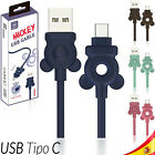 CABLE USB-C ALUMINIO MÓVIL TABLET TIPO C 1 metro MICKEY 480 Mbps...