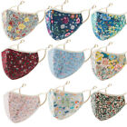 Cotton Floral Printing Face Mask Adjustable Mouth Mask Double Layered Reusable