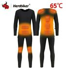 Heated Electric USB Heated Shirt Top Heating Jacket Suit Thermal Underwear Set