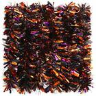 6 Pieces 39.4 Ft Halloween Twist Garland Chunky Glittering Tinsel Garland Mixed