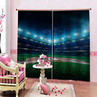 Blue Camouflage Lamp Surprise Printing 3D Blockout Curtains Fabric Window