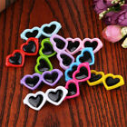 New Pet Lovely Heart Sunglasses Hairpins Pet Dog Bows Hair Clips  1pc Us