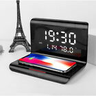 10W Qi Wireless Charger for Android Samsung Apple iPhone with Smart Alarm Clock