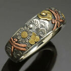 Fashion Flower 925 Silver Rings For Women Jewelry Party Gift Ring Size 6-10