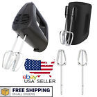 5-Speed Corded Hand Mixer Black Kitchen Cooking Cook Essentials Home Appliance