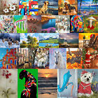 DIY Oil Painting By Number Picture Hand Painted Drawing Acrylic Canvas Kit Decor