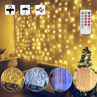 LED Fairy String Lights USB Curtain Window 8 Modes Christmas Party Decor Remote