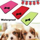 Waterproof Warm Dog Bed Pet Kennel Bone Cushion Mat Crate Cage Pad House S/M/L