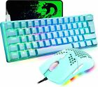 Wired 61 Key 60% Mechanical Gaming Keyboard And Mouse Rgb Backlit For Pc Ps4 Mac