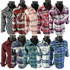 Flannel Plaid Shirt Womens Soft Pockets Pin Up Sleeves Regular and Plus Size Fit