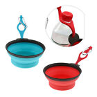 Collapsible Silicone Cat Dog Pet Feeding Bowl Water Dish Feeder Portable NEW
