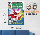 Vision and Scarlet Witch #5 1985 Marvel Comic Cover Wall Poster