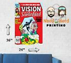 Vision and Scarlet Witch #11 1985 Marvel Comic Cover Wall Poster