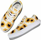 flySpacs Cute Sunflower&Checkboard Sneaker Slip-On Fashion Women Shoes