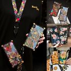 For Samsung S21 S20 S10 S9 Note20 10 9 Luxury Flowers Metal Square Case w/ Ring