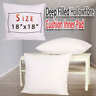 Pack of - 18x18 Inches DEEP FILLED Cushion Pads Inserts Inners Fillers Scatters