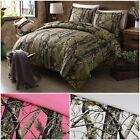 Salem Tree Forest Wood Camo Comforter Duvet Cover Set Shams w/ Button Closure