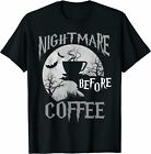 Cute Nightmare Before Coffee Halloween Funny Mug Gift T-Shirt Black S-5XL