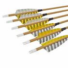 """30"""" Feather Carbon Arrows Wooden Skin Spine 500 Traditional Bow Shooting 6/12pcs"""