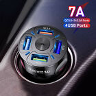 Car Charger USB Fast Charging QC3.0 Cigarette Lighter Adapter for Samsung iPhone