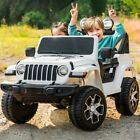 12V Kids Electric Ride on Car 2 Seats Motorized Truck Battery Powered w/ Lights