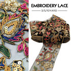 Retro Gold Sequins Embroideried Lace Ribbons Ethnic Mesh Trims DIY Sewing Craft