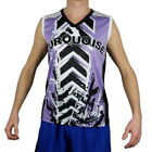 Turquoise Tank Top Sleeveless beach tennis Man Violet Black Polyester