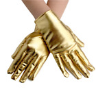 Women's Short PU Leather Gloves Cosplay Halloween Party Dance Finger Gloves