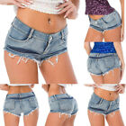Womens Distressed Denim Shorts Casual Summer Jeans Shorts Beach Holiday Hotpants