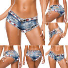 Women's Low Waist Ripped Jeans Shorts Casual Distressed Denim Shorts Hot Pants