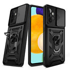 For Samsung Galaxy A52 A32 A42 5G A12 A02S Hybrid Ring Stand Case/Tempered Glass