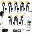1 TO 8 Outdoor Lawn Landscape Light With Remote Control Waterproof Super Bright