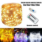 20-100 LED String Fairy Light With USB Remote For Halloween Xmas Party Decor