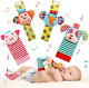 Soft Baby Wrist Rattle Foot Finder Socks Set Cotton And Plush Stuffed Infant Toy