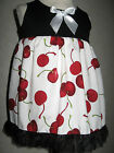 New Cool Baby Girls Black White Red Cherry Top Dress Gift Alternative Clothing