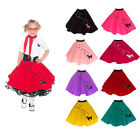 1950s Small Child 4/5/6 Girls Poodle Skirt (Retro Halloween Dance Costume 1960s)